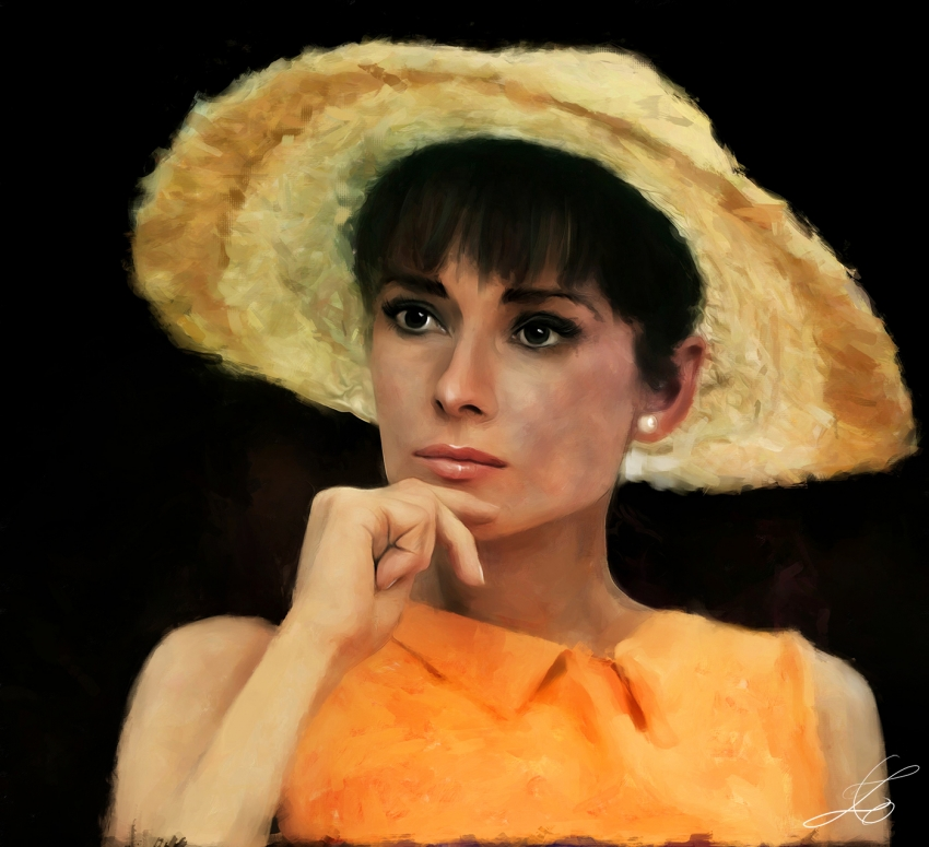 Audrey Hepburn by z6ig